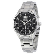 Seiko SPC153 Men's Chronograph Quartz Black Dial Stainless Steel Sport W... - $120.00