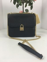 New Michael Kors Bag Crossbody Mercer Large Black Leather Messenger B2Z - $118.79