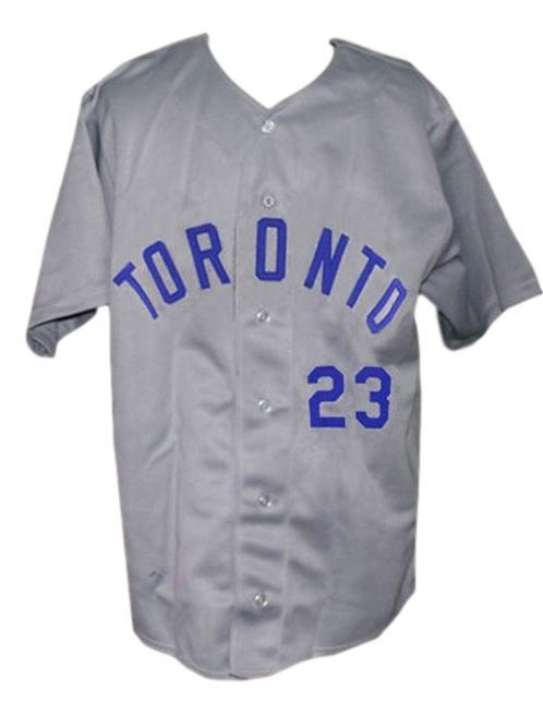 Toronto Maple Leafs Retro Baseball Jersey 1956 Button Down Grey Any Size