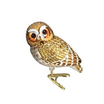 Old World Christmas Ornaments: Pygmy Owl Glass Blown Ornaments for Chris... - $11.78
