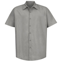 Men's Lightweight Short Sleeve Collared Button up Casual Dress Shirt - M