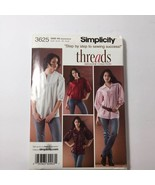 Simplicity 3625 Size 6-14 Misses Pullover Blouse in Two Lengths - $11.64