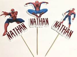 "Spider-Man Party Set Of 3 Centerpiece Picks 9""h SINGLE SIDED Cake Topper - £11.63 GBP"