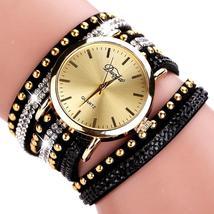 Duoya Brand Watches Women Gold Geneva Luxury Crystal Gemstone Wristwatches Fashi - $15.88