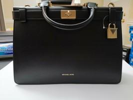 Nwt Mk Michael Kors Tatiana Large Black Md Satchel Leather Bag $348 - $227.69