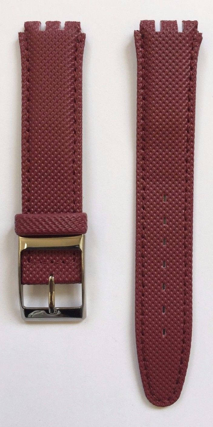 17mm Genuine Leather Standard Swatch Replacement Watch Band Strap Various Color