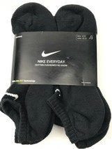 Nike Everyday Plus 6-Pair Pack No Show Cotton Cushioned Dri-Fit Socks Me... - $18.80