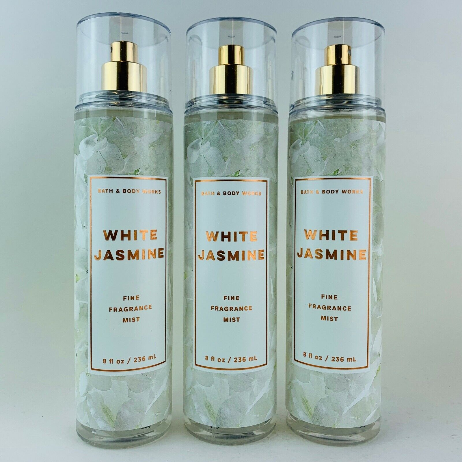 Primary image for 3 Bath & Body Works White Jasmine Fine Fragrance Mist Spray 8 fl.oz 236ml