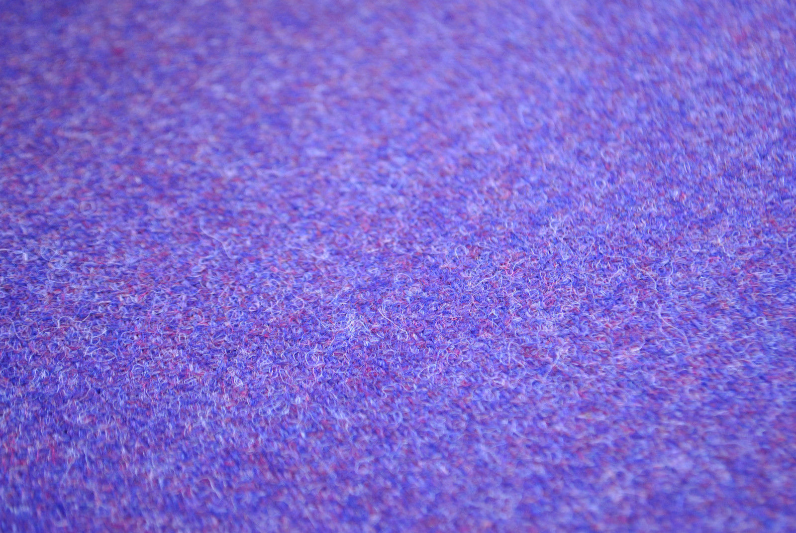 Tweed material by the metre or yard in purple lilac lavender