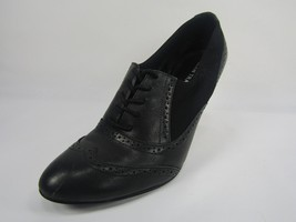 Shoe Ellen Black Wingtip Pumps Lace Leather 5 ET 8 Up Tracy SWING Size Heel Szvw6BxASq