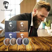 Beard Balm Conditioner 4 Pack - Natural Variety Leave-in Conditioner Wax Butter  image 7