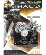 HALO Game UNSC Gungoose Metal Earth 3-D Laser Cut Steel Model Kit #MMS29... - $12.55