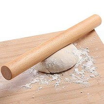 Wooden Rolling Pin for Baking Pizza making, Professional Dough Roller Ro... - $12.64 CAD