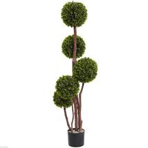 4' Boxwood Five Ball Topiary UV Resistant (Indoor/Outdoor) - $108.99