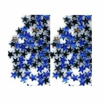 100 Rhinestones BLUE new lots Arts Crafts STARS - $3.25