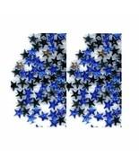 100 Rhinestones BLUE new lots Arts Crafts STARS - $3.25