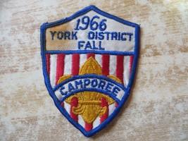 1966 york district fall camporee bsa boy scouts of america  LOGO VINTAGE... - $14.20