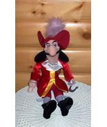 "Disney Peter Pan Captain Hook Plush 20"" Red Stunning Outfit Villain Need... - $11.59"