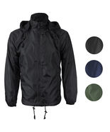 Renegade Men's Water Resistant Polar Fleece Lined Hooded Windbreaker Rai... - $26.97