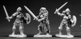Female Fighters Reaper Miniatures Dark Heaven Legends Warrior Paladin Melee - $7.91