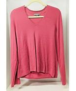 Anne Taylor 100% Cashmere Women's XL V Neck Sweater Medium Dusty Pink - $44.55