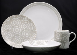 Studio Nova Concentric Circle * One 4-PIECE Place Setting * New In Box - $79.19