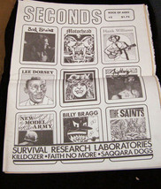 seconds Bad Brains Ozzy Lee Dorsey Motorhead Hank Williams Saints - $15.99