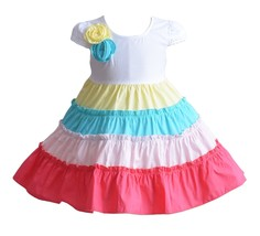 Cinda Premium Melina Five Colour Hoop Girls Cotton Party Dress 9 12 18 2... - $11.36