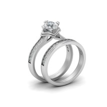 0.75ct DEF White Moissanite Wedding Ring Set 925 Sterling Silver Promise Rings - $289.99