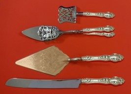 Violet by Wallace Sterling Silver Dessert Serving Set 4pc Custom Made - $299.00