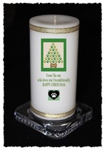 Christmas Candle From The DOG personalised Gift own message  | Cellini #8 - $15.64