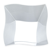 Plastic 14 Oz. Clear Wave Soup Bowl/Case of 120 - €62,40 EUR