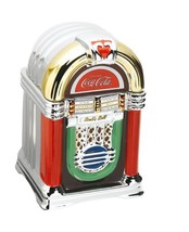 "Kitchen Gibson Coke & a Song 11 1/4"" Cookie Jar Juke Box Removable Top - $75.00"