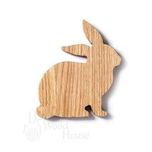 Handmade the Easter bunny Rabbit from oak gift decorating your home nice... - $19.00
