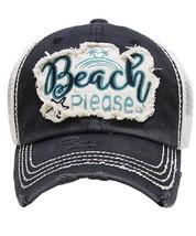 Black Beach Please Ladies Baseball Cap - $19.99