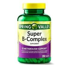 Spring Valley Super B Complex with Vitamin C & Folic Acid 250-CT SAME-DAY SHIP - $14.79