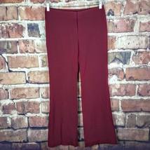 Nine West Womens Wide Leg  Pants Size 2 Red Maroon 33 Inseam Career Dress - $12.87