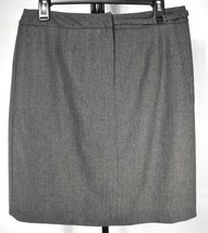 Wool Skirt Gray Straight Jones NY Stretchy Women's Size 10 Business Wea... - $12.95
