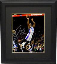 Jahlil Okafor signed Philadelphia 76ers 8x10 Photo Custom Framed (white ... - $74.95