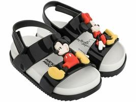 NWT MINI MELISSA Cosmic Sandal + Disney Twin Black Mickey Minnie Face Cu... - $59.99