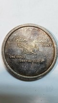 Mother Lode Mint 1973 Round Don't Git Caught Wit Yer Pants Down 1 Oz .999 Silver image 2