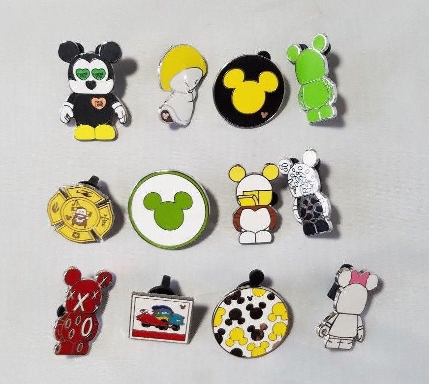 Disney Trading Pins Mickey Mouse + Bonus Cars Collectible Lot 12 Lanyard