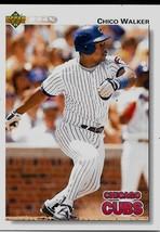 1992 Upper Deck Baseball Card, #617, Chico Walker, Chicago Cubs - $0.99