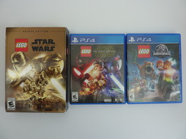LEGO Jurassic World + Star Wars The Force Awakens Deluxe (PlayStation 4,... - $27.67
