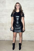 Joana Preiss Designer Trendy Women  Real Leather Replica Short Sleeve Dress