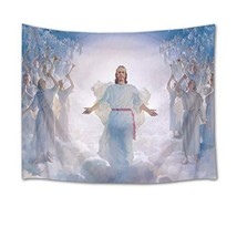 HVEST Christmas Tapestry Wall Hanging Paradise Tapestry Jesus Angel in H... - $18.08