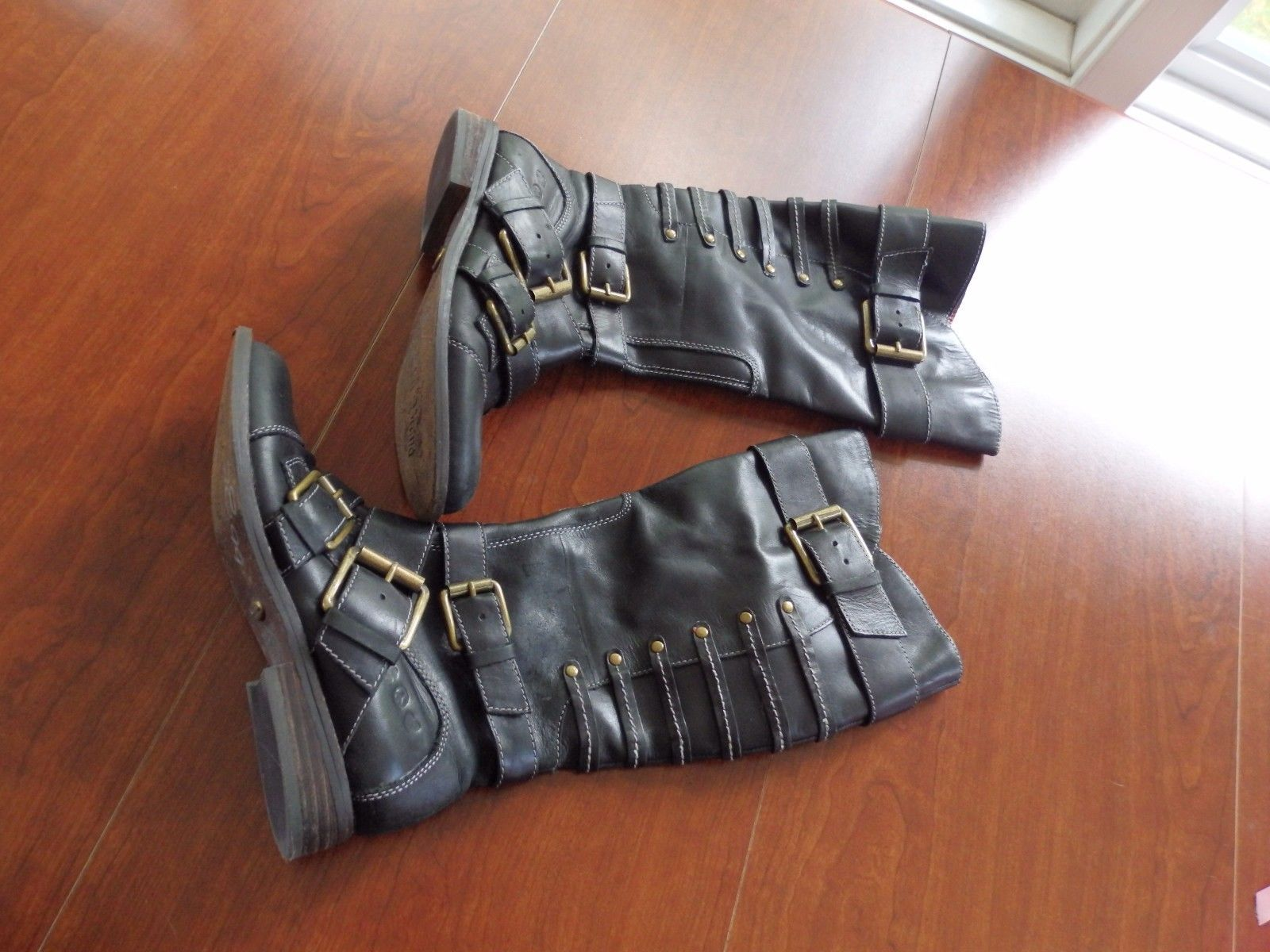 04731f77f7dc Lucky Brand Black Leather Knee High Double and 21 similar items