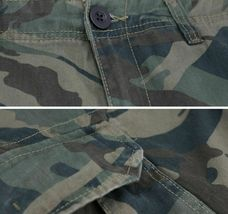Men's Cotton Work Trousers Multi Pocket Camo Military Army Cargo Pants  40x28 image 3