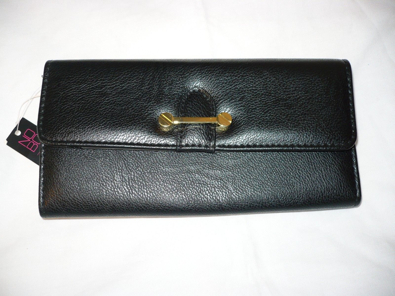Primary image for No Boundaries Ladies Clutch Wallet Black With Gold Accents NEW