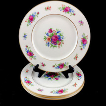 Lenox Rose Fine China Ivory Dresden Floral 4 Dinner Plates Made in USA R... - $56.06